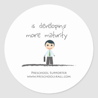 Developing maturity classic round sticker