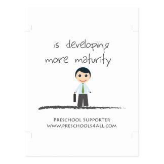 Developing maturity postcard