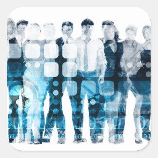 Developing Workforce or Develop Talent Square Sticker