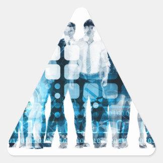 Developing Workforce or Develop Talent Triangle Sticker