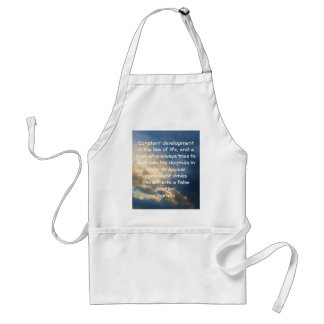 Development Is The Law Of Life Gandhi Wisdom Quote Adult Apron