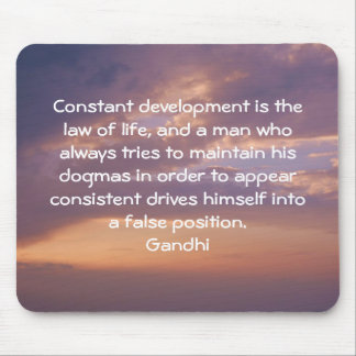 Development Is The Law Of Life Gandhi Wisdom Quote Mouse Pad