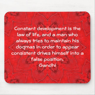 Development Is The Law Of Life Gandhi Wisdom Quote Mouse Pads