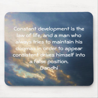 Development Is The Law Of Life Gandhi Wisdom Quote Mousepad