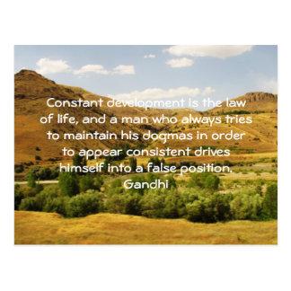 Development Is The Law Of Life Gandhi Wisdom Quote Postcard