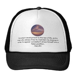 Development Is The Law Of Life Gandhi Wisdom Quote Trucker Hat