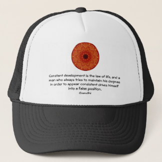 Development Is The Law Of Life Gandhi Wisdom Quote Trucker Hat