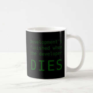 Development Never Ends Coffee Mug