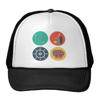 Development of Exponential Growth Icons Trucker Hat