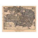 Development Plan Map of Berlin Germany in 1862 Post Card