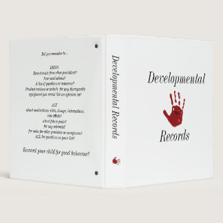 Developmental Records Binder