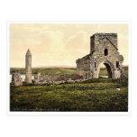 Devenish Island Ruins. Lough Erne. Co. Fermanagh, Postcard