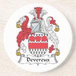 Devereux Family Crest Drink Coaster