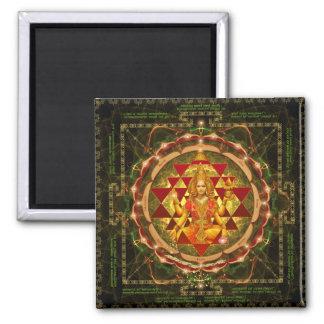 Devi Lakshmi Stotram- Shri Yantra 2 Inch Square Magnet