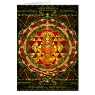 Devi Lakshmi Stotram- Shri Yantra Card