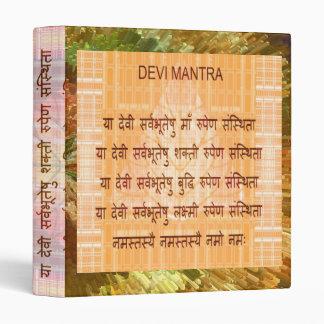 DEVI Mantra - Ancient Sanskrt Hindi Hinduism Vinyl Binder