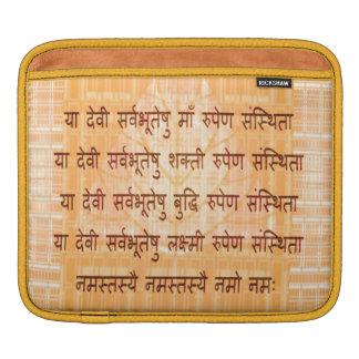 DEVI Mantra - Ancient Sanskrt Hindi Hinduism iPad Sleeve