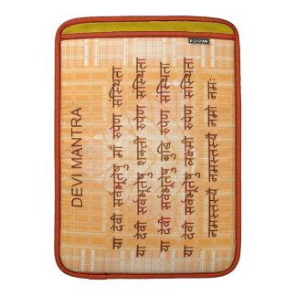 DEVI Mantra - Ancient Sanskrt Hindi Hinduism MacBook Air Sleeves