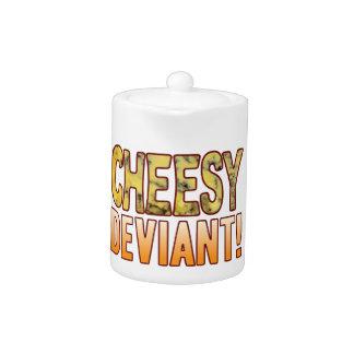 Deviant Blue Cheesy Teapot