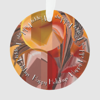 Device Abstract in Reds and Oranges Ornament
