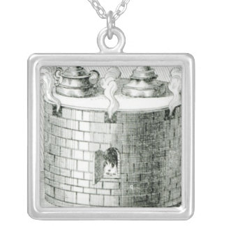 Devices for Keeping Water and Food Warm on Square Pendant Necklace
