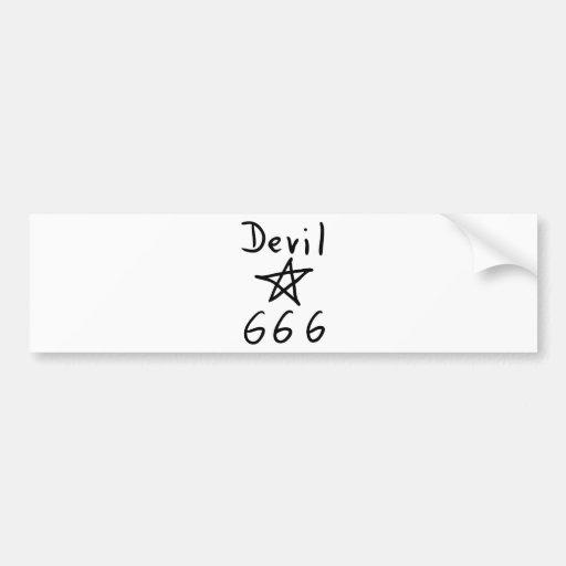 devil 666 icon bumper sticker