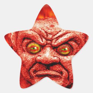 devil-890 pegatina en forma de estrella