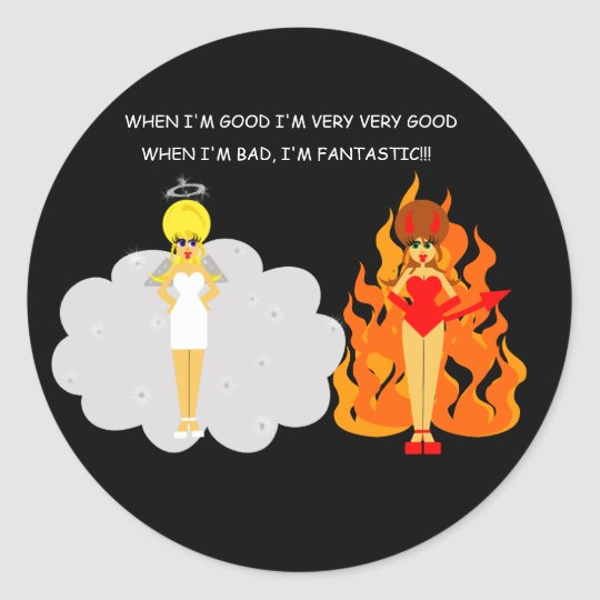 Devil and Angel Stickers