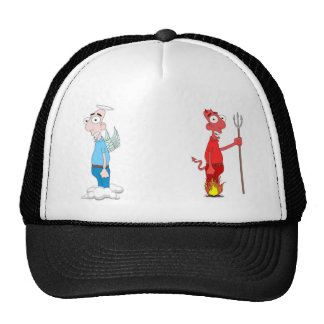 Devil and Angel Trucker Hat