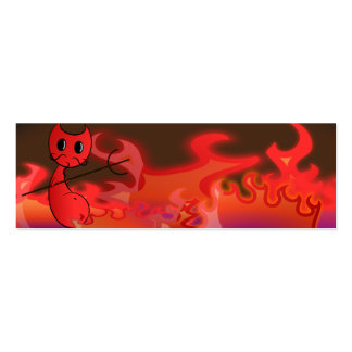 Devil and Fire Bookmarks Double-Sided Mini Business Cards (Pack Of 20)