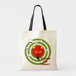 Devil and skulls budget tote bag