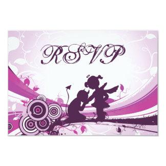 Devil Angel Love Retro Wedding RSVP Cards