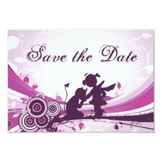 Devil Angel Love Save the Date Wedding Notice Card