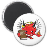 devil / angel smiley face 2 inch round magnet
