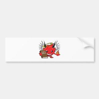 devil / angel smiley face bumper stickers