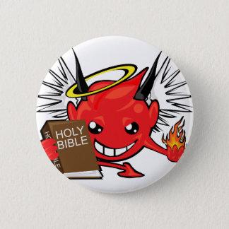 devil / angel smiley face button