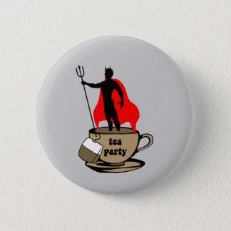 Devil anti tea party button