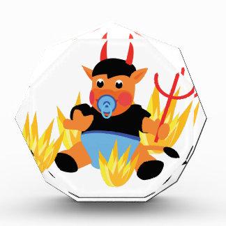 devil baby acrylic award