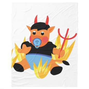 Halloween Themed devil baby blanket