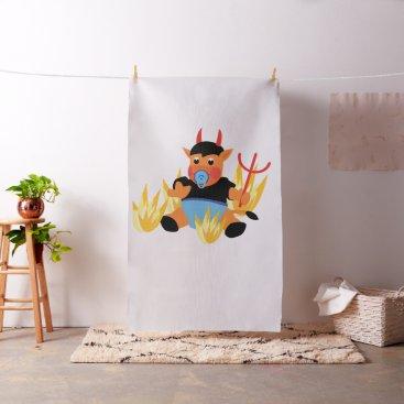 Halloween Themed devil baby fabric