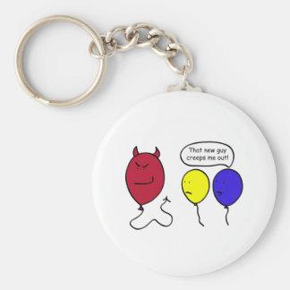 Devil Balloon Person Keychain