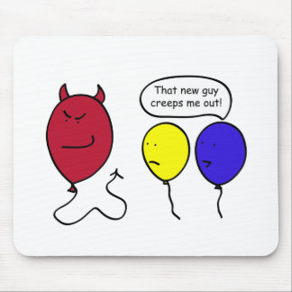 Devil Balloon Person Mouse Pad