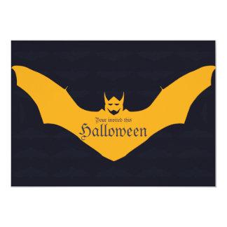 Devil Bat Halloween Card
