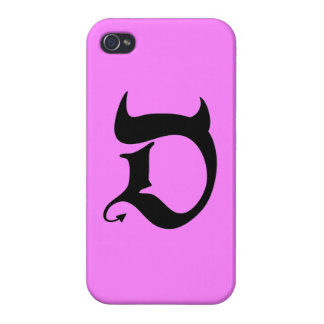 Devil (black/pink) cover for iPhone 4