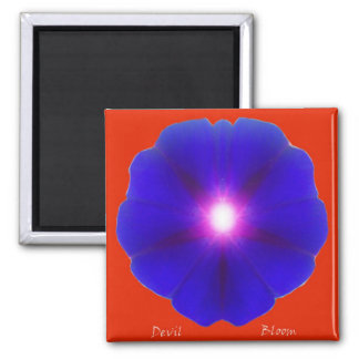 Devil Bloom 2 Inch Square Magnet