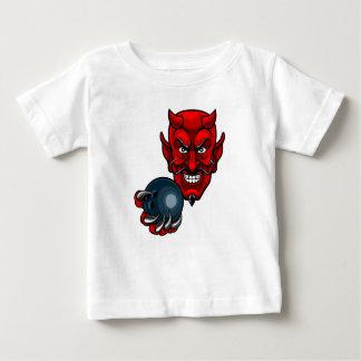 Devil Bowling Sports Mascot Baby T-Shirt