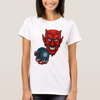 Devil Bowling Sports Mascot T-Shirt