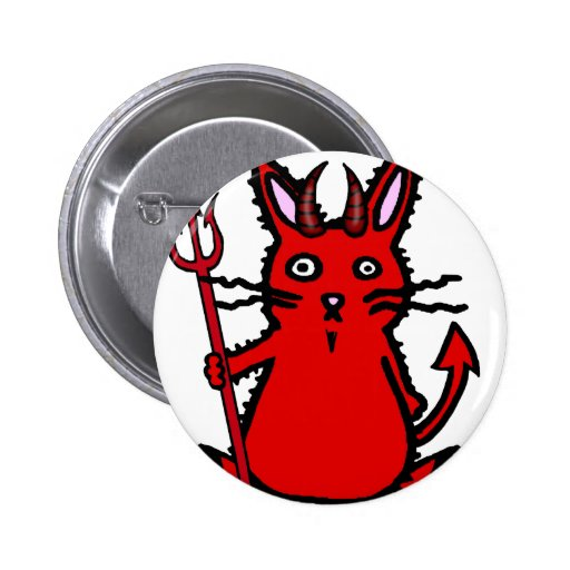 Devil Bunny 2 Inch Round Button