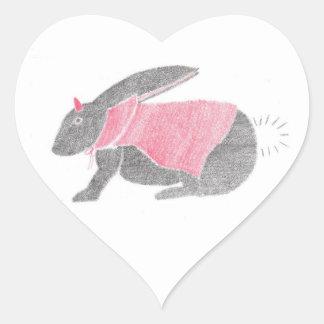 Devil Bunny Heart Sticker