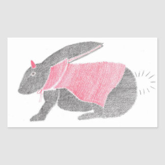 Devil Bunny Rectangular Sticker